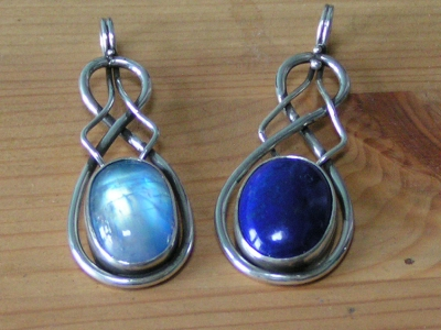 Lapis and Moonstone Pendant